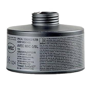 AVEC CHEM - Filtro protector respiratorio para partículas, gas o ...