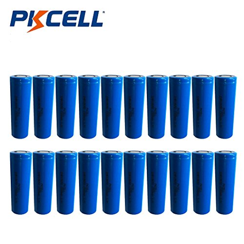 IMR 18650 1500MAH 3.7V Flat Top High Drain Rechargeable Battery (20PC) by PK Cell