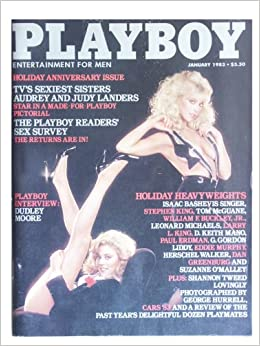 Playboy January 1983 Dudley Moore Interview, Isaac Bashevis Singer Fiction,  Stephen King Fiction, G  Gordon Liddy Article, Little Annie Fanny by