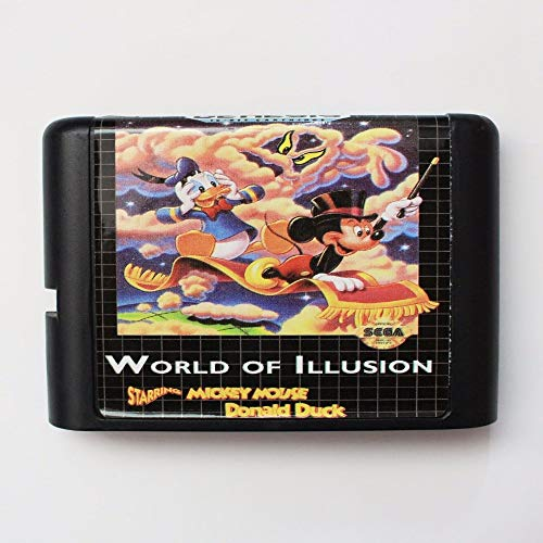 - World Of Illusion Starring Mickey Mouse And Donald Duck 16 Bit Md Game Card For Sega Mega Drive For Genesis