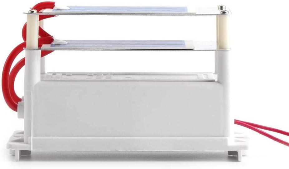 El generador del ozono, generador portátil del ozono de 7g / h 110V / 220V con Aire de cerámica de la Placa de la Hoja Doble se esteriliza(AC220V)