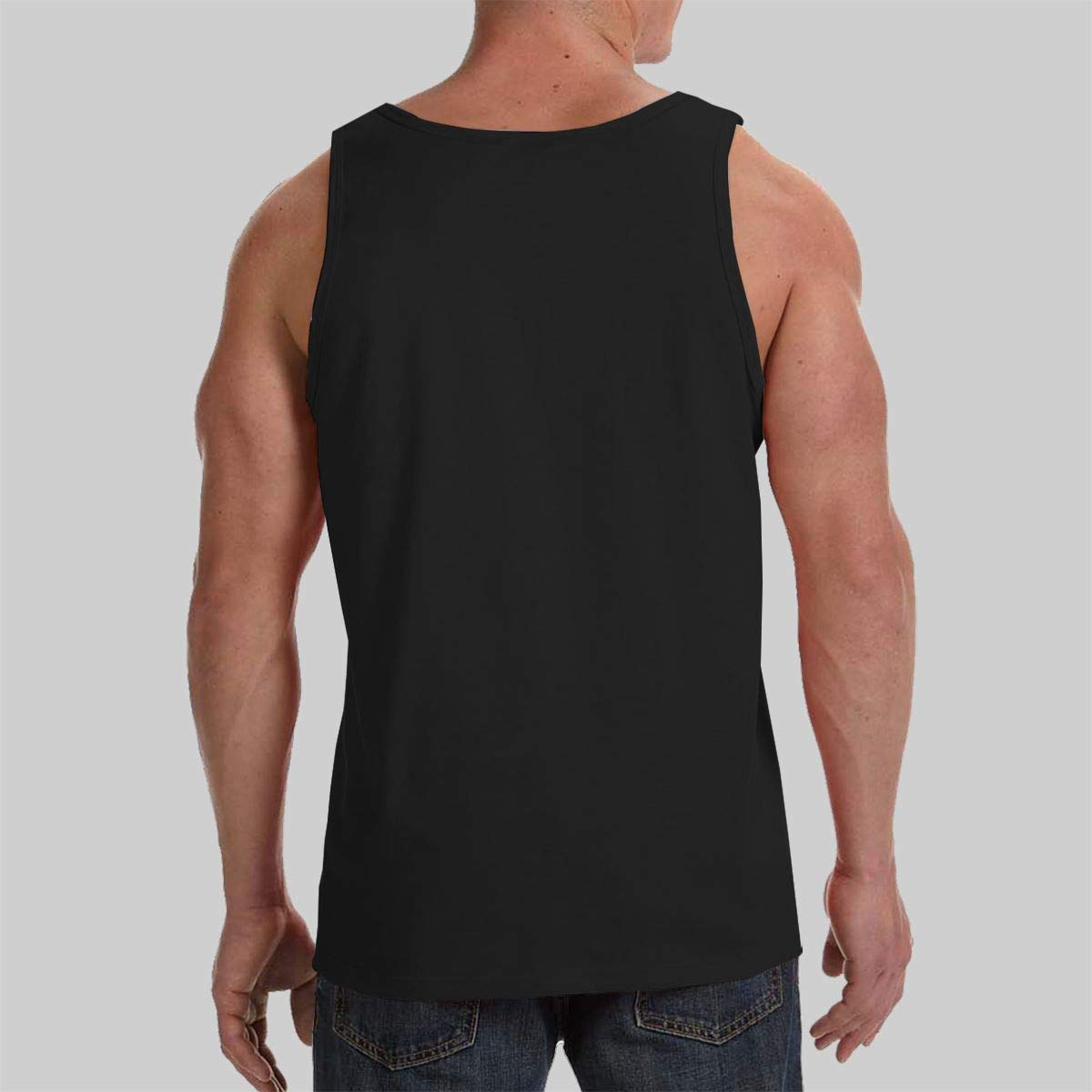 Joyce-life Hibiscus Rosa-sinensis Flower Mens Tank Top Slim Fit Muscle Shirt Black
