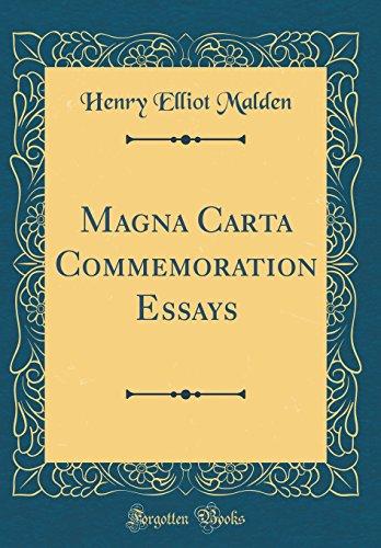 Magna Carta Commemoration Essays (Classic Reprint)