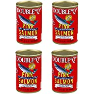 """Double""""Q"""" Wild Caught Alaskan Pink Salmon, 14.75 oz Can (Pack of 4)"""