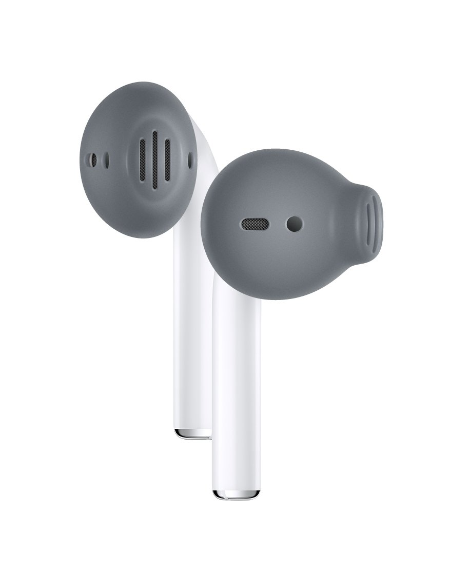Fundas Almohadillas Es3 Para Apple AirPods, space gray