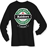 Football- Long Sleeve Raiders Beer Shirt - Sizes up to 6XL