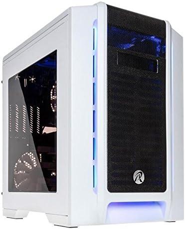RAIJINTEK Aeneas Cubo Blanco - Caja de Ordenador (Cubo, PC, SGCC, Blanco, Micro ATX, Azul): Amazon.es: Informática