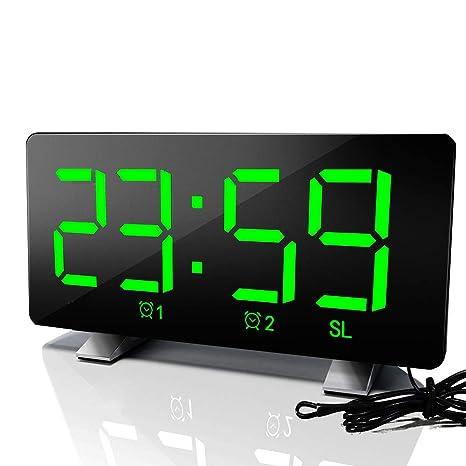 Houkiper Relojes de Alarma Digitales, Pantalla Digital Ultra ...
