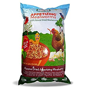 Amzey Dried Mealworms 11 LBS - 100% Natural for Chicken Feed, Bird Food, Fish Food, Turtle Food, Duck Food, Reptile Food, Non-GMO, No Preservatives, High Protein and Nutrition 3