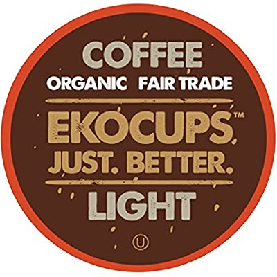 Eko Cups Artisan Organic Light Gourmet Coffee, Medium Roast, in Recyclable Single Serve Cups for Keurig K-cup Brewers, 20 Count