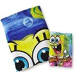 Kids Bath Sets Sponge Bob 2 Piece Bath Set (Bath Towel & Bathcloth)