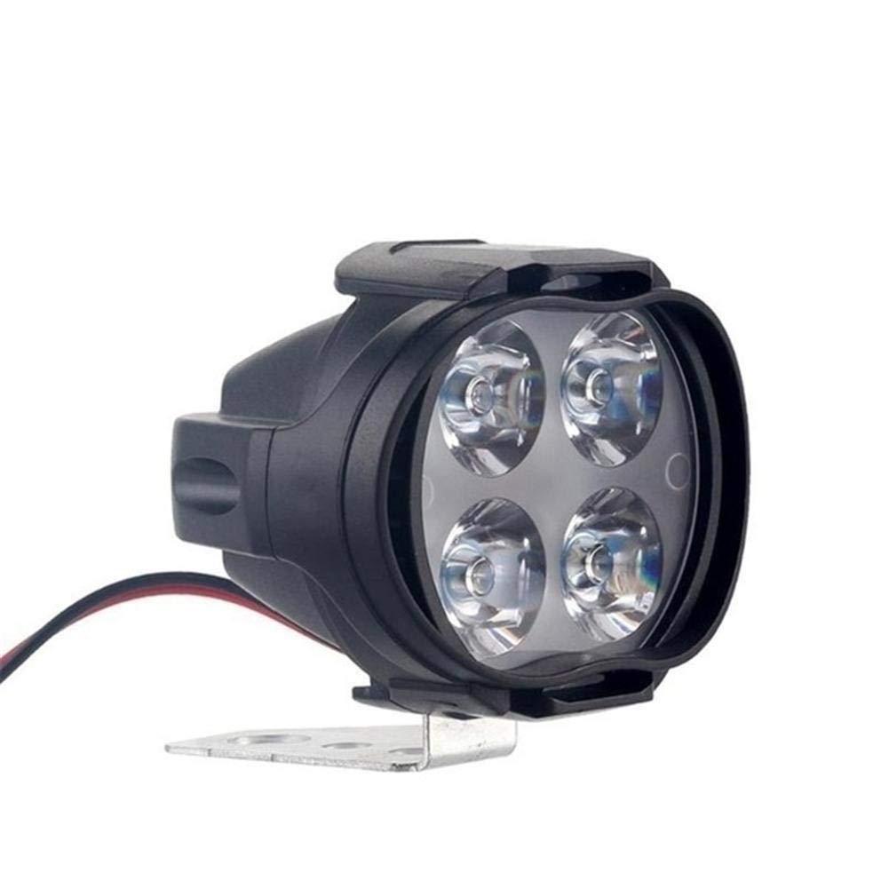 IrahdBowen Fanali fendinebbia per moto, luci di lavoro, luci frontali ausiliarie, luce anabbagliante ad alta potenza 12 W, super luminosa, fendinebbia, luce bianca