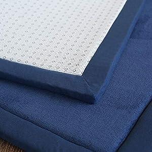 Lyfreen Memory Foam Baby Floor Rug Modern Area Rug Nursery Floor Rug for Boys Girls Ultra Soft Childrens Carpet Infant Toddler Play Mat, Navy Blue 4.92'x 6.56′ Livingroom Rug Yoga Mat