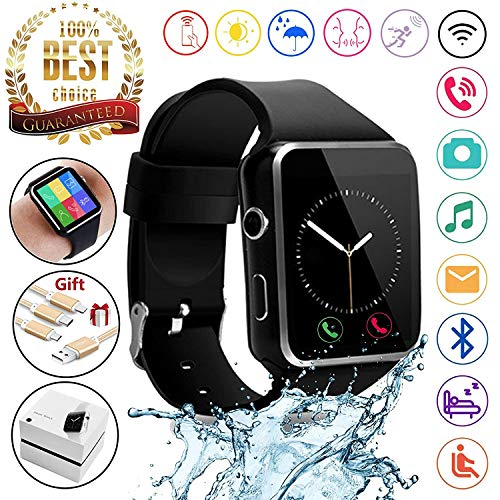 2018 Newest Bluetooth Smart Watch Touchscreen with Camera,Unlocked Watch Phone with Sim Card Slot,Smart Wrist Watch,Smartwatch Phone for Android Samsung S9 S8 iOS iPhone 8 7S Men Women Kids (Best Smart Touch Casual Fitness Trackers)