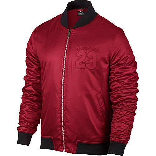 Jordan AJ 6 BOMBER JACKET mens athletic-warm-up-and-track-jackets 833918-687_2XL - GYM RED by Jordan
