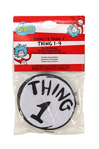 elope Dr. Seuss Thing 1-9 Printed Patches (Thing 2 Kids Costumes)