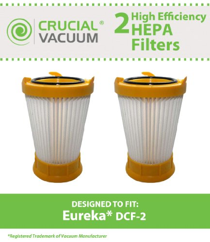 2 Cut DCF-2 Filters for Eureka Victory/Whirlwind Series Vacuums, models 4680-4689; Compare to Eureka Part Nos. 61805, 61805A, 61805-4, 70855-33n; Designed & Engineered by Essential Vacuum