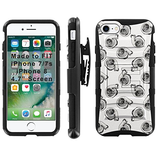 ([Mobiflare] Armor Phone Case for iPhone 8 / iPhone 7 [Black/Black] Blitz Armor Phone Cover with Holster - [Turbos])