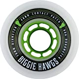 Hawgs Biggie White Longboard Wheels - 70mm 80a (Set of 4) by Hawgs