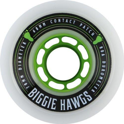 Hawgs Biggie White Longboard Wheels - 70mm 80a (Set of 4) by Hawgs
