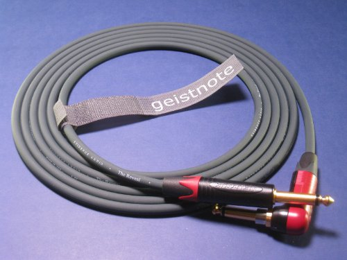 Geistnote's Evidence Audio Reveal Instrument Cable with Neutrik Silent Plug and Gold Connectors 17 Ft (5 M) ~ Right Angle to Straight by Evidence Audio