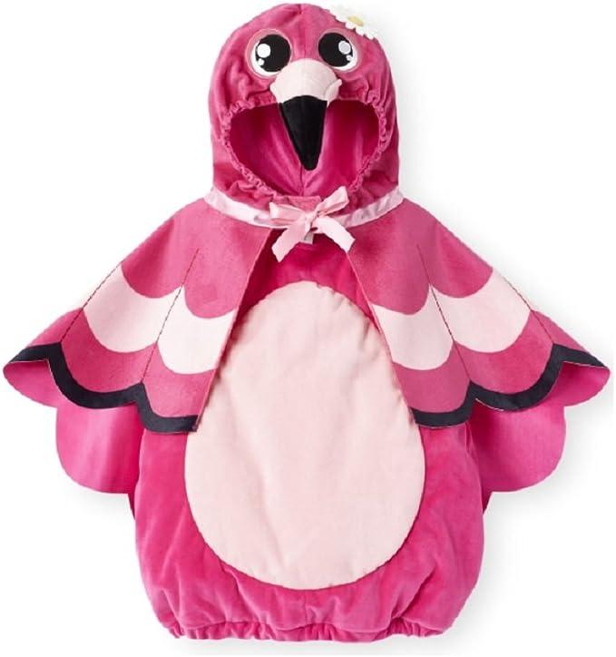 Koala Kids Baby Girls 2 pc Plush Flamingo Halloween Costume (3-6 Months)