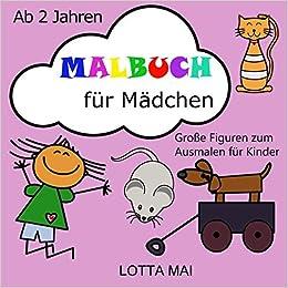 Malbuch Für Mädchen Ab 2 Jahren Große Figuren Zum Ausmalen Für
