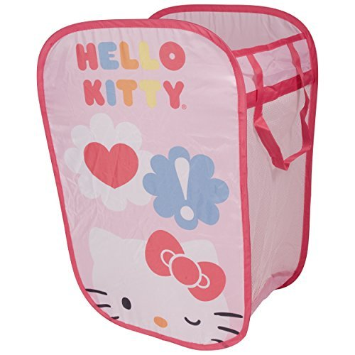 Hello Kitty Pop Open Laundry Hamper And Toy Storage Bin – Laundry Bag With Handles – Portable Laundry Hamper – Collapsible Hamper – Pink