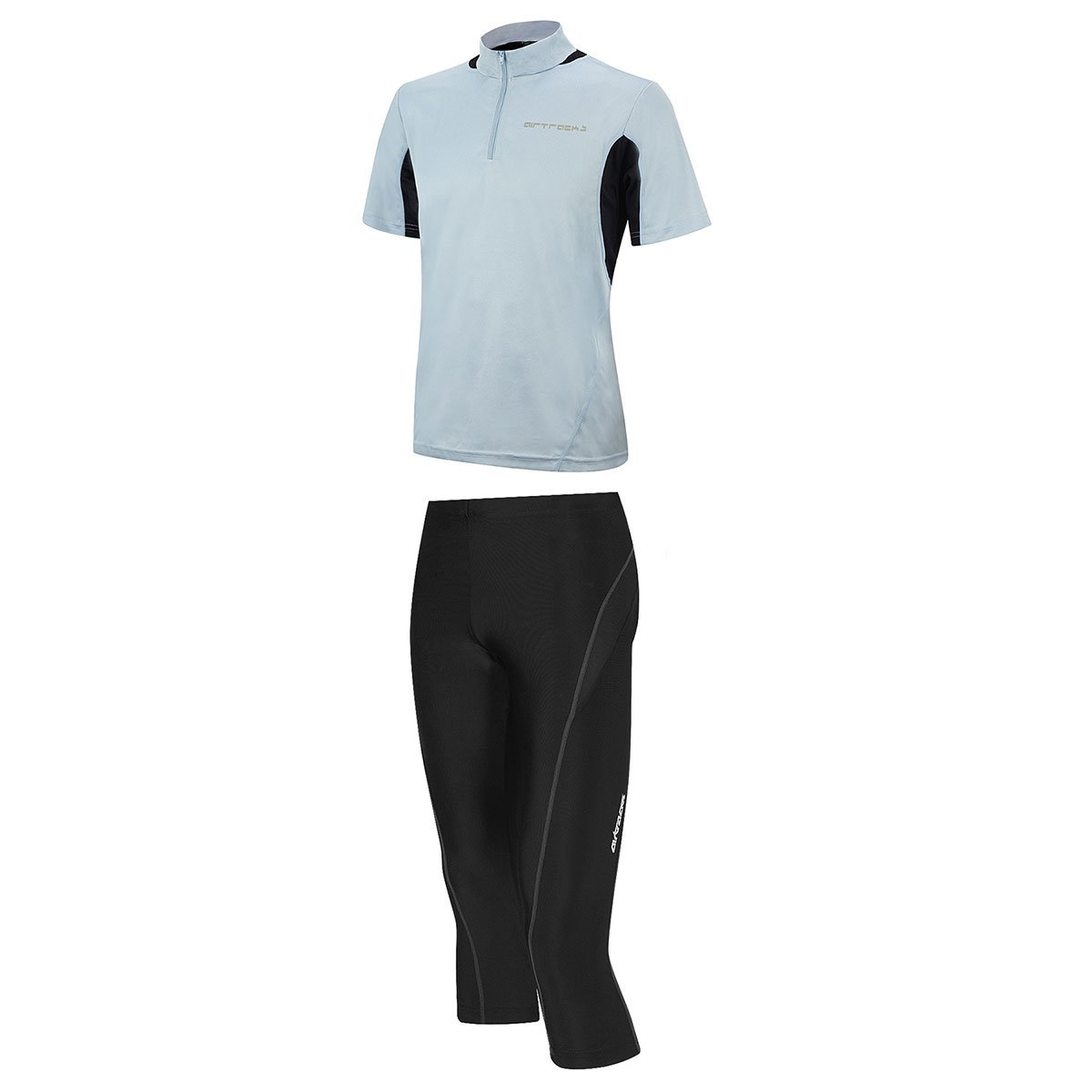 AIRTRACKS FUNKTIONS-LAUFSET - TIGHT-3/4-LANG PRO T + T-SHIRT KURZARM PRO