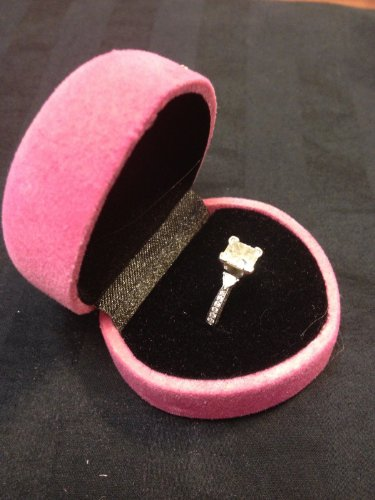 Pink Ring Box Wedding Velvet Diamond Engagement - Rings Engagement Ca