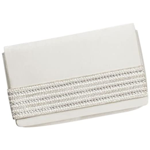 875751eb0d Amazon.com: Satin Foldover Clutch with Embellished Strap Style ...