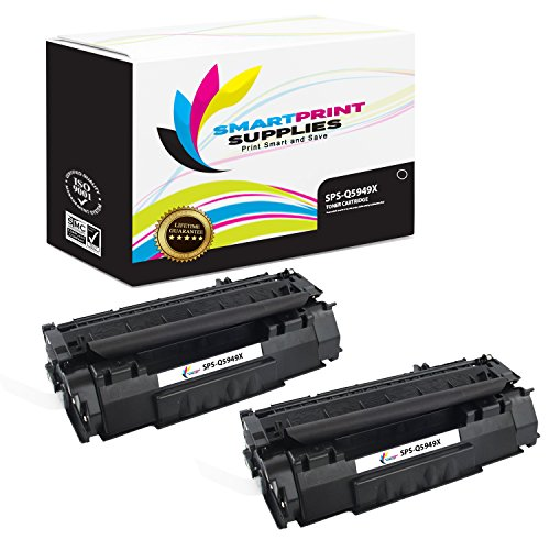 Smart Print Supplies Compatible 49X Q5949X Black High Yield Toner Cartridge Replacement for HP 1320 Printers (6,000 Pages) - 2 ()