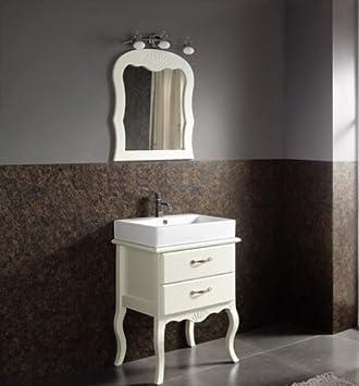 Bathroom Shabby Chic Vintage White Vanity Unit Ceramic Basin