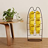 AllGreen Innovative 4 Tiers Shoe Rack No Need To Installation Slippers Rack Drying Indoor Bathroom,Bronze