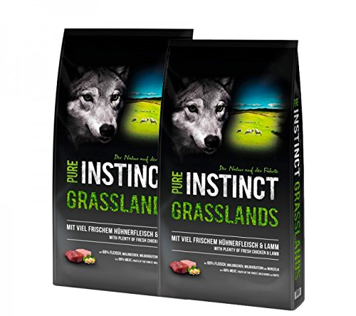 Schock´s PURE INSTINCT Grasslands mit Huhn & Lamm 2x12kg