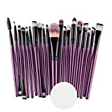 Kasien Makeup Brush, 20PCS Eyeshadow Brushes Set Foundation Cosmetic Eyebrow Eyeshadow Brush Makeup Brush Sets Tool Make-up Toiletry Kit (B)