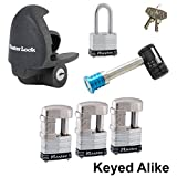 Master Lock - 6 Trailer Locks Keyed Alike #6KA-37937-3