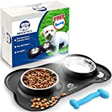 Bent & Freck Dog Food Bowls for Small Dogs Cats