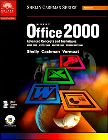 Book Microsoft Office 2000 Advanced Concepts and Techniques