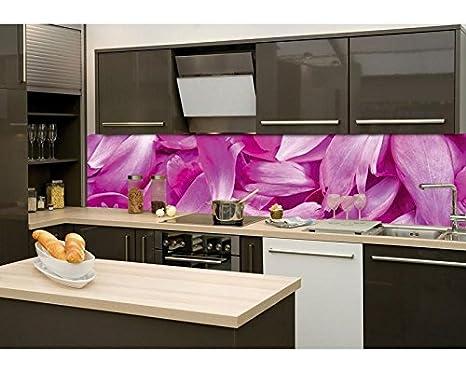 La parete della cucina pellicola autoadesiva viola petali di fiori