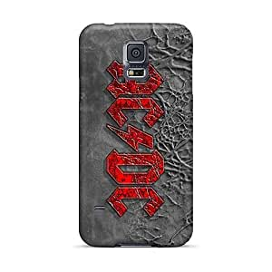 Perfect Hard Phone Cases For Samsung Galaxy S5 (Tmk18615viyV) Provide Private Custom Realistic Ac Dc Band Pattern