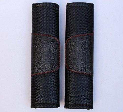 Sino Banyan Carbon Fiber Seat Belt Cover,Shoulder Pad Cushion,Set of (Cover Set Carbon)