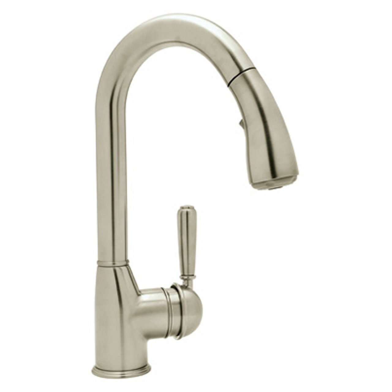Rohl Kitchen Faucets Reviews Rohl R7504lmstn 2 Classic Kitchen Faucet With Pull Down Spray