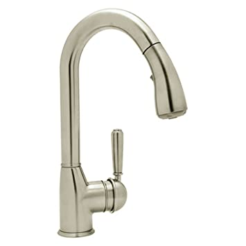 Rohl R7504LMPN2 Classic Kitchen Faucet with Pull Out Spray and