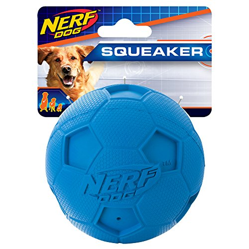 - Nerf Dog Soccer Squeak Ball Dog Toy, Medium-color may vary