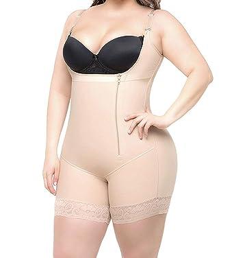 1f1e8f6695c RIBIKA Body Shaper for Women Shapewear Tummy Control Underwear Bodysuits  with Zipper Black  Amazon.co.uk  Clothing