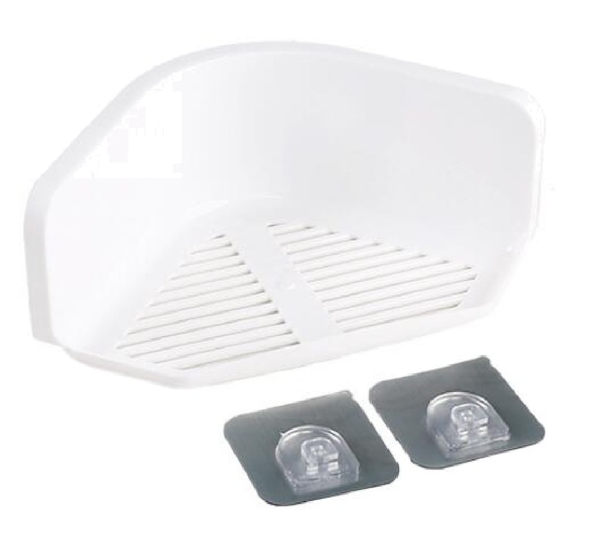 Ruhua Shelving Solid Storage Bathroom Iron Absorption Bookcase White US 2 shelves