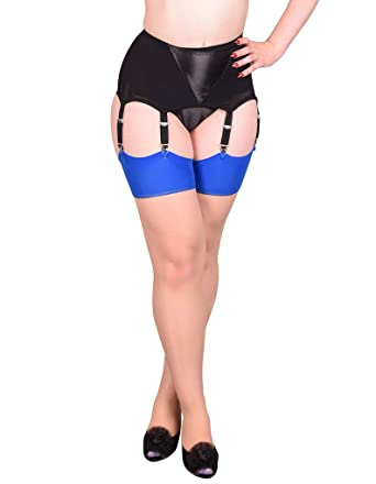 2b9880e7bcb What Katie Did Seamed Stockings Contrast Blue Glamour  Amazon.co.uk   Clothing