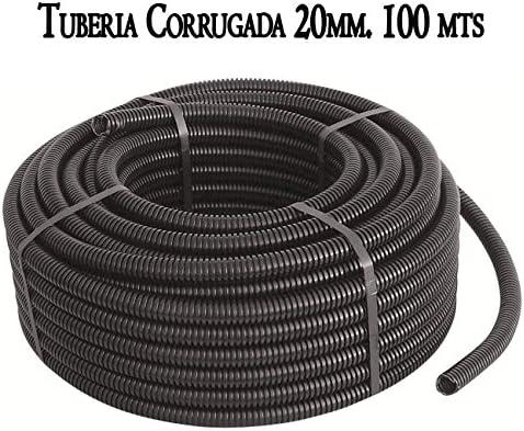 Tubo corrugado interior para cables M-20 13mm 10m coarrugado BeMatik AE063