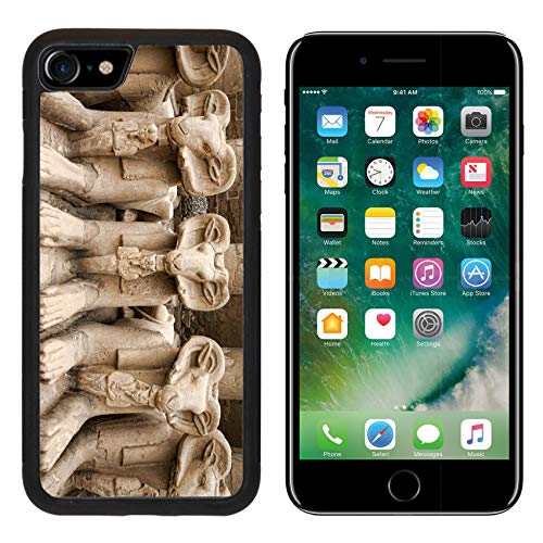 Luxlady Apple iPhone 8 Case Aluminum Backplate Bumper Snap iPhone8 Cases Image ID: 32548111 Karnak Temple in Luxor - Luxor Design Crystal